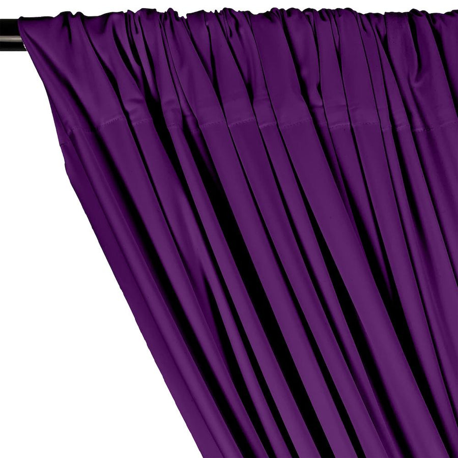 Matte Milliskin Rod Pocket Curtains - Purple