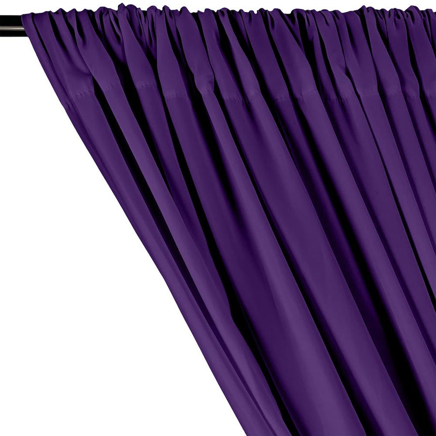 Peachskin Rod Pocket Curtains - Purple