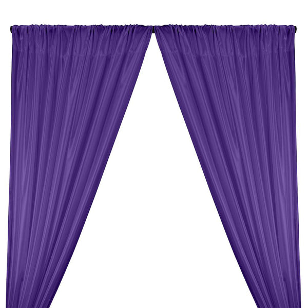 Poly China Silk Lining Rod Pocket Curtains - Purple
