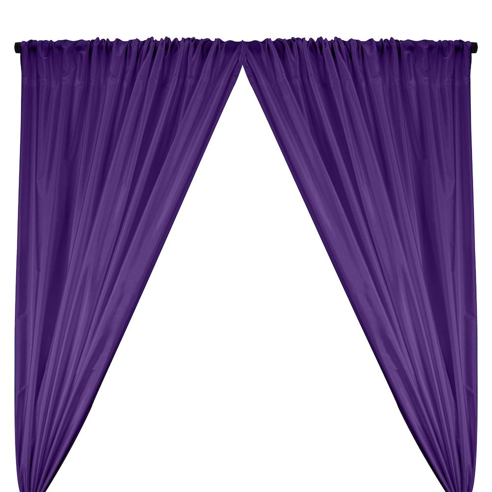 Polyester Taffeta Lining Rod Pocket Curtains - Purple