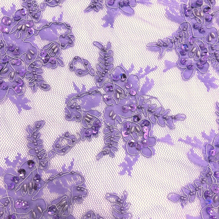 Lilac Queen Beaded Lace
