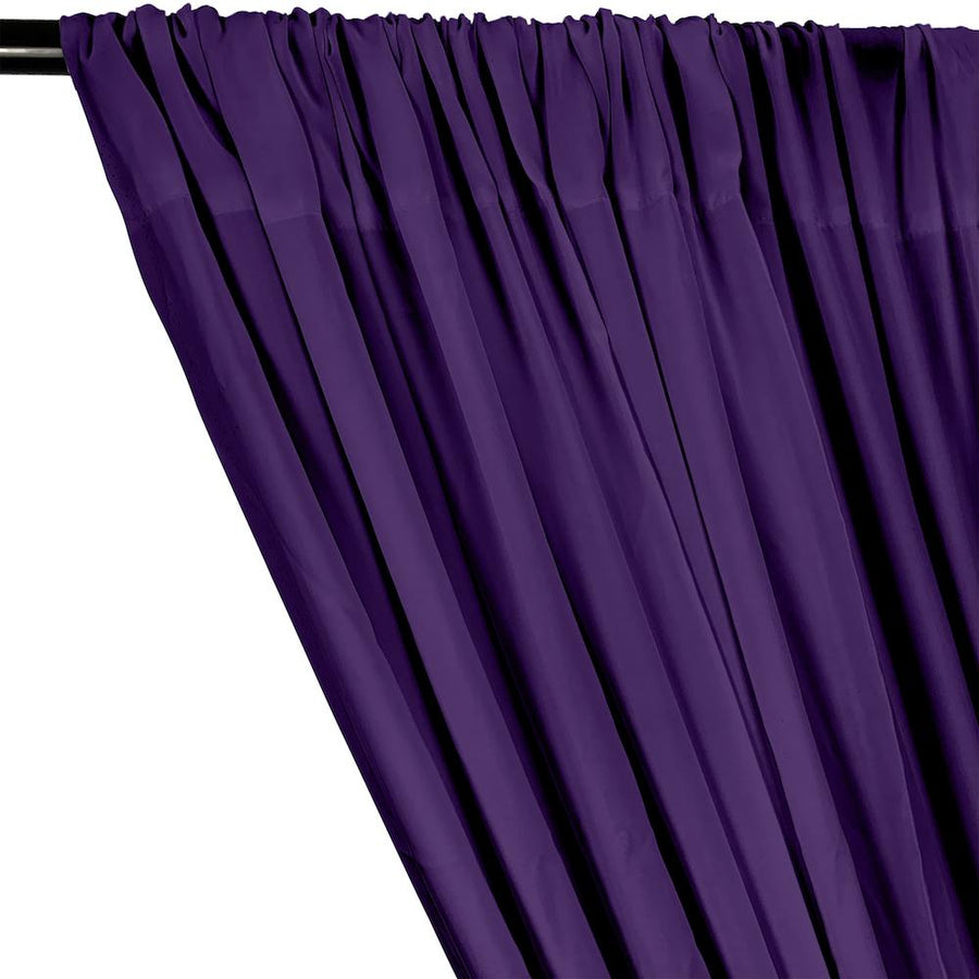 Rayon Challis Rod Pocket Curtains - Purple