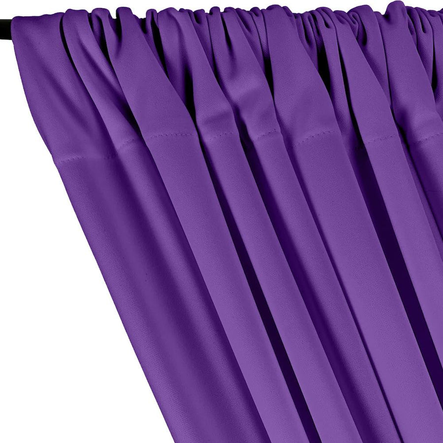 Scuba Double Knit Rod Pocket Curtains - Purple