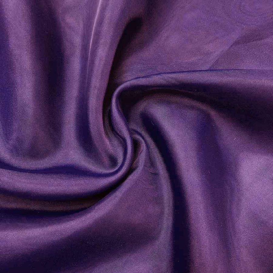 Sheer Voile Fire Retardant Rod Pocket Curtains - Purple