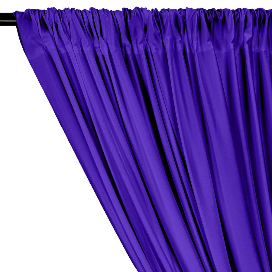 Shiny Milliskin Rod Pocket Curtains - Purple