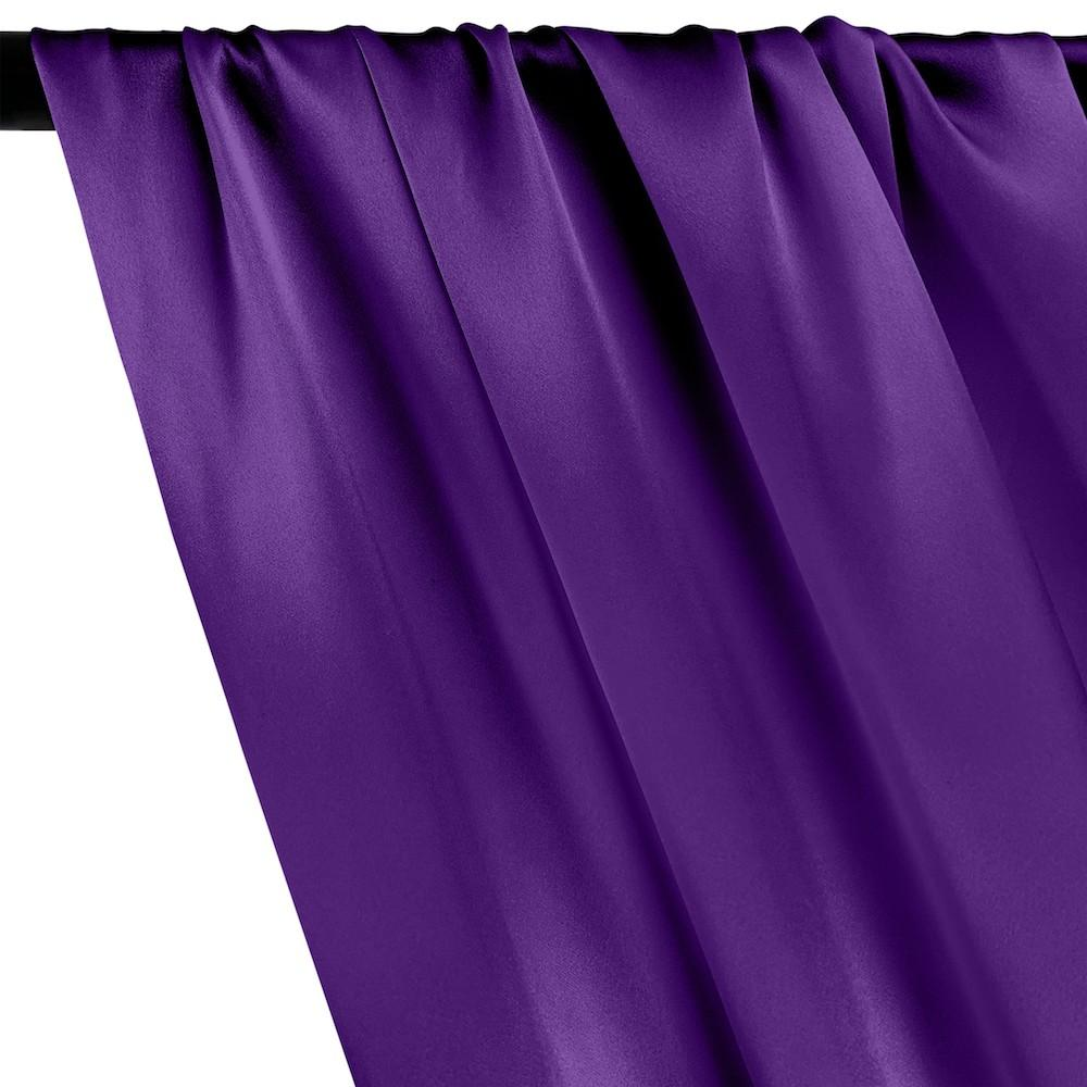 Silk Charmeuse Rod Pocket Curtains - Purple
