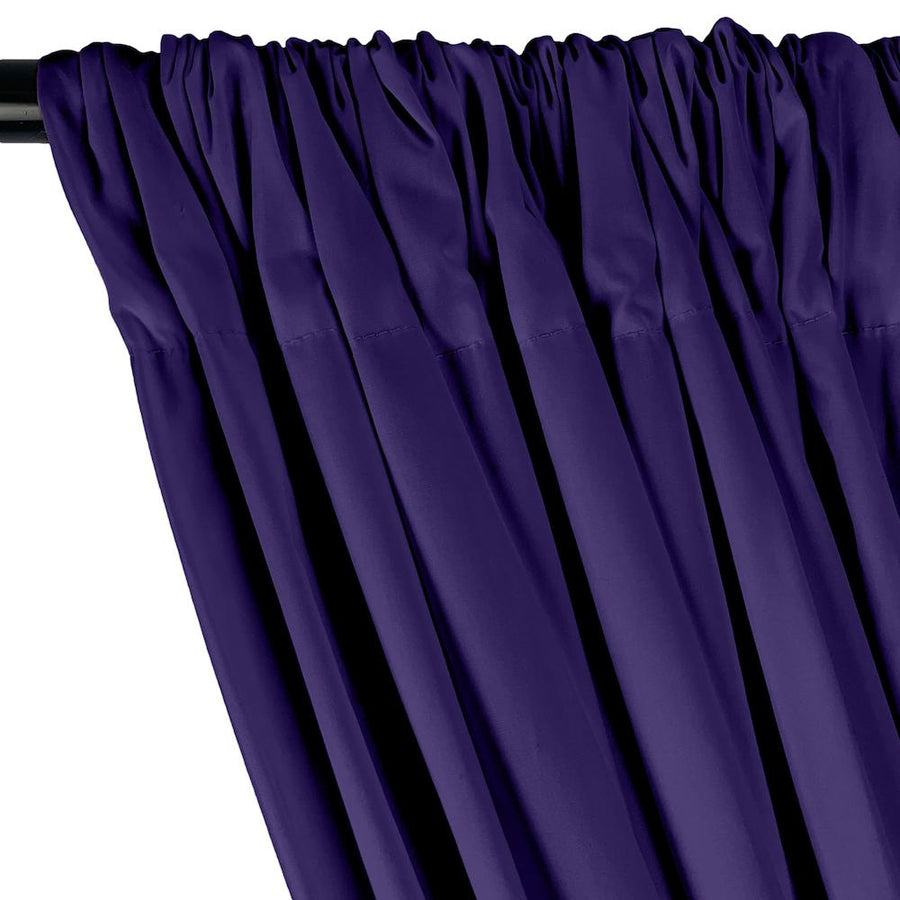 Stretch Broadcloth Rod Pocket Curtains - Purple