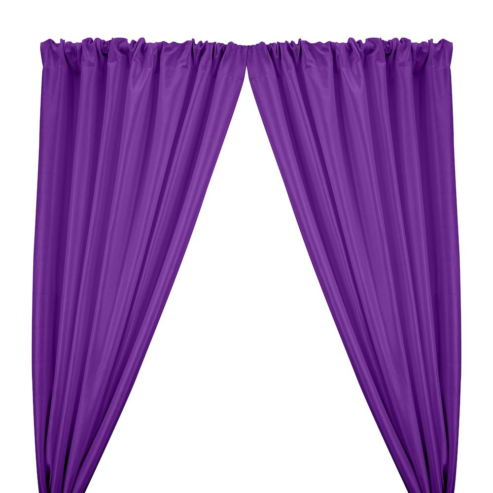 Stretch Taffeta Rod Pocket Curtains - Purple