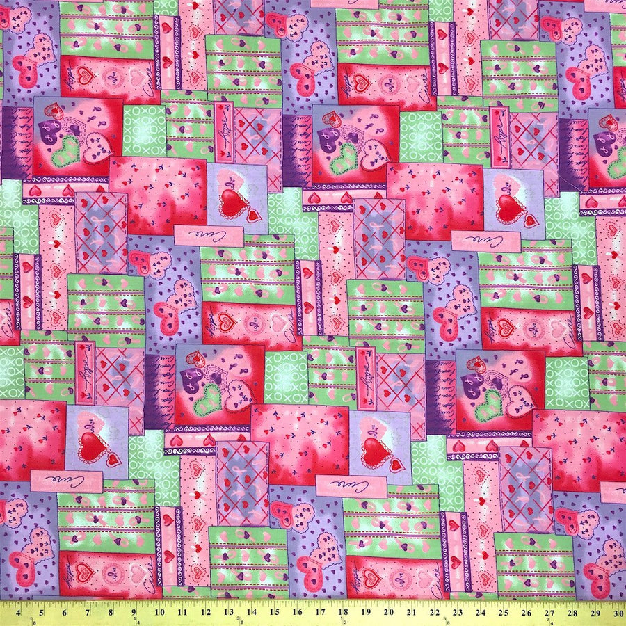 Quilt Green Print Broadcloth