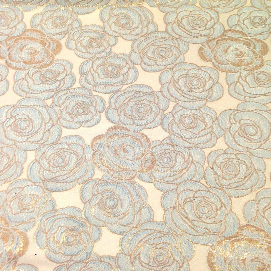 Rosette Metallic Jacquard Fabric