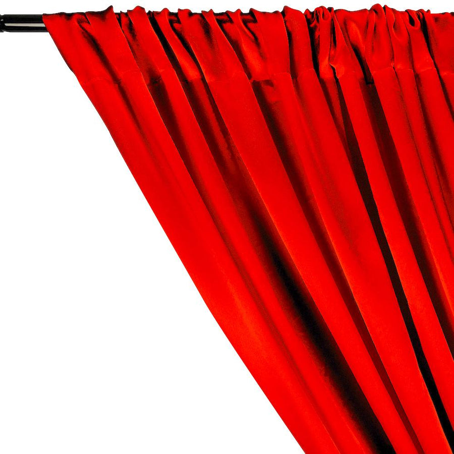 Charmeuse Satin Rod Pocket Curtains - Red