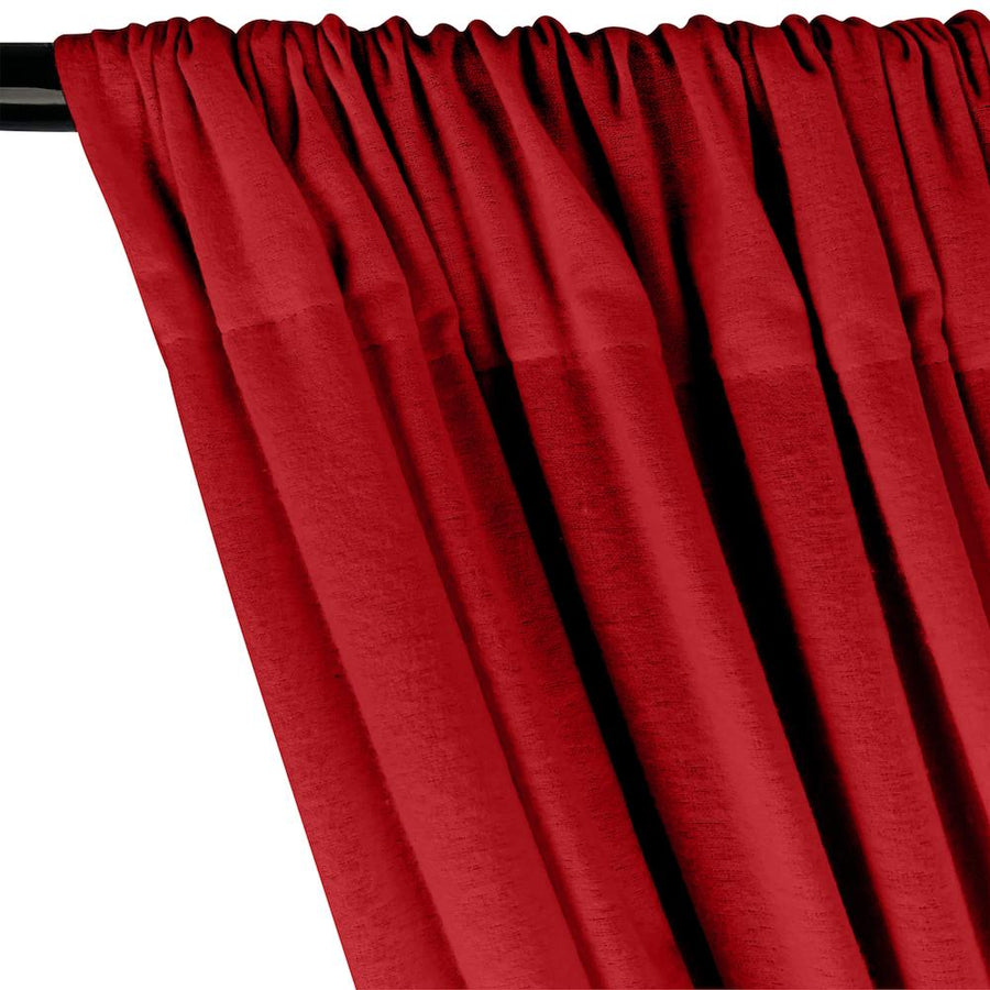 Cotton Flannel Rod Pocket Curtains - Red