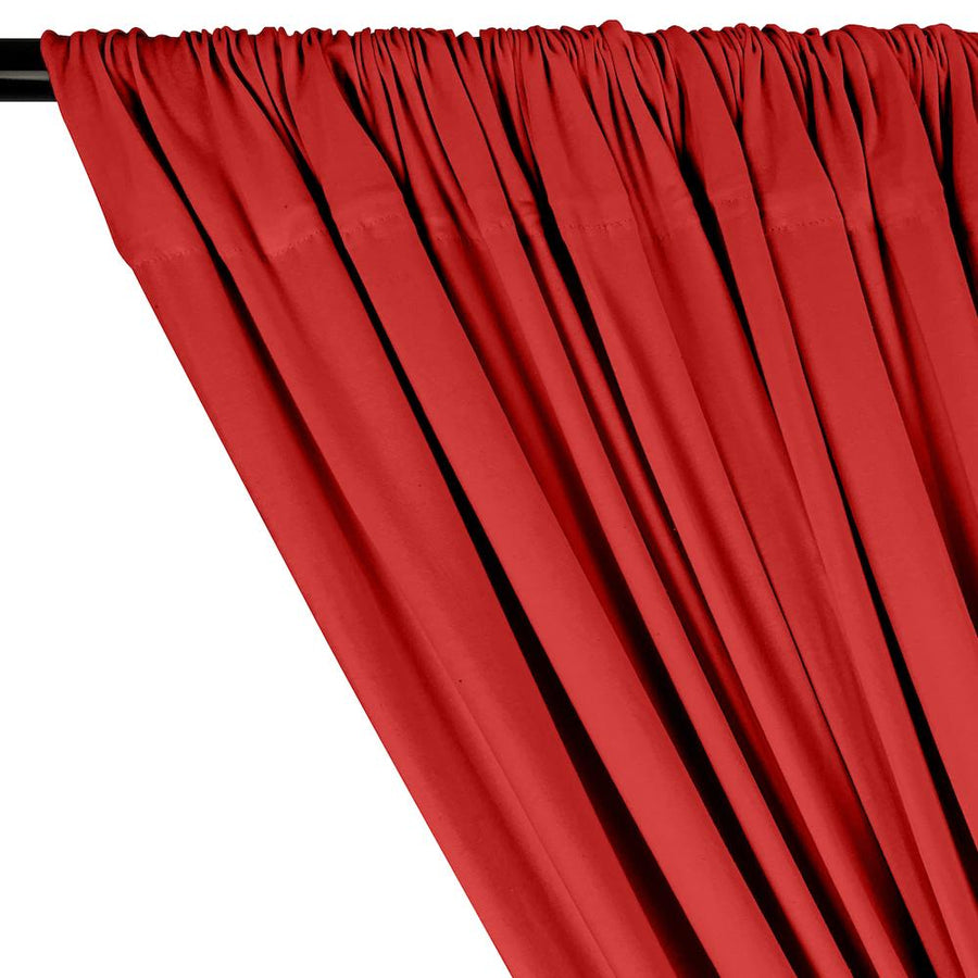 Cotton Jersey Rod Pocket Curtains - Red