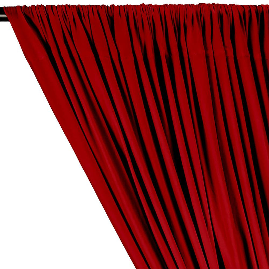 DTY Double-Sided Brushed Rod Pocket Curtains - Red