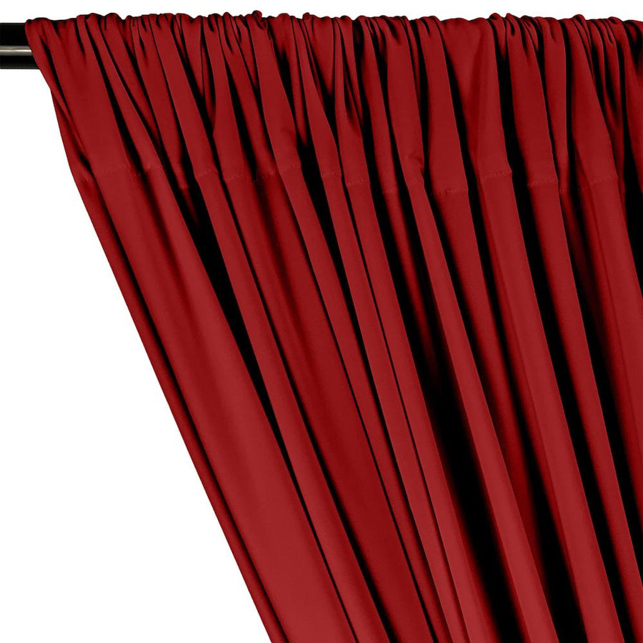 ITY Knit Stretch Jersey Rod Pocket Curtains - Red