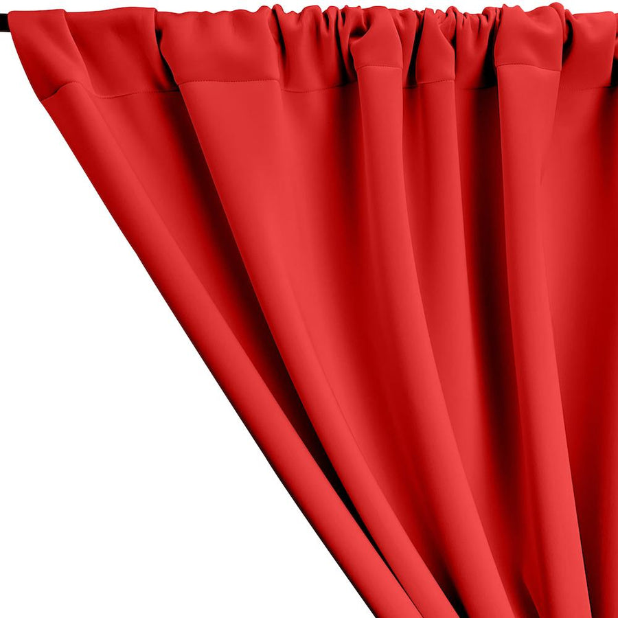 Neoprene Scuba Rod Pocket Curtains - Red