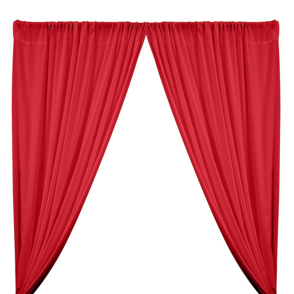 Peachskin Rod Pocket Curtains - Red