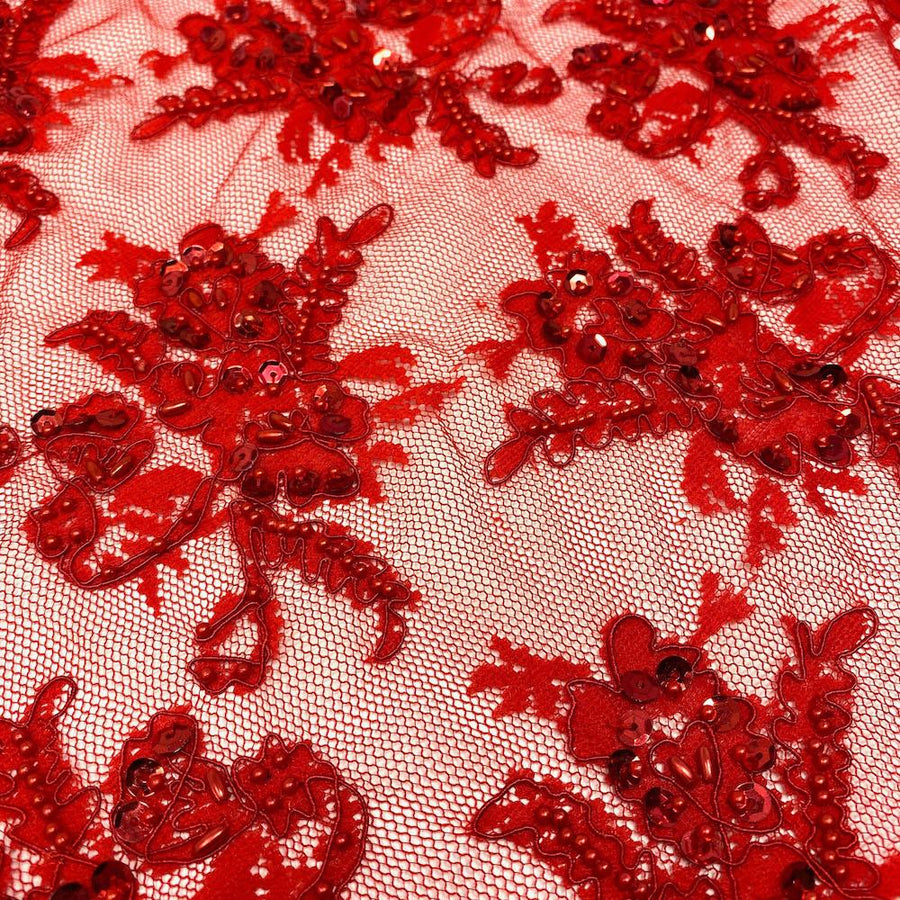 Red Queen Beaded Lace
