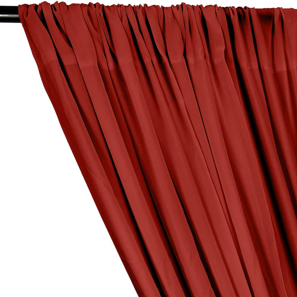 Rayon Challis Rod Pocket Curtains - Red