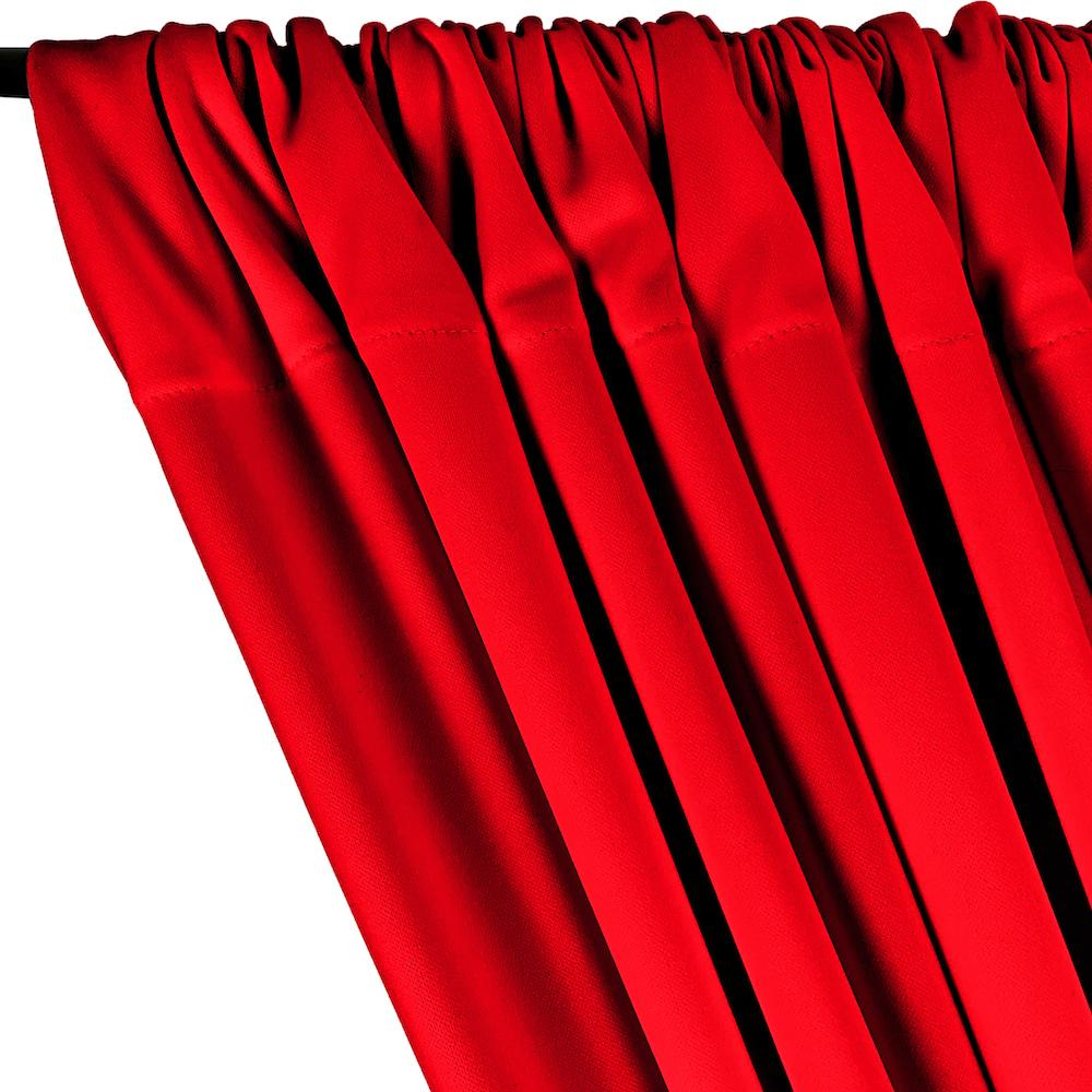 Scuba Double Knit Rod Pocket Curtains - Red