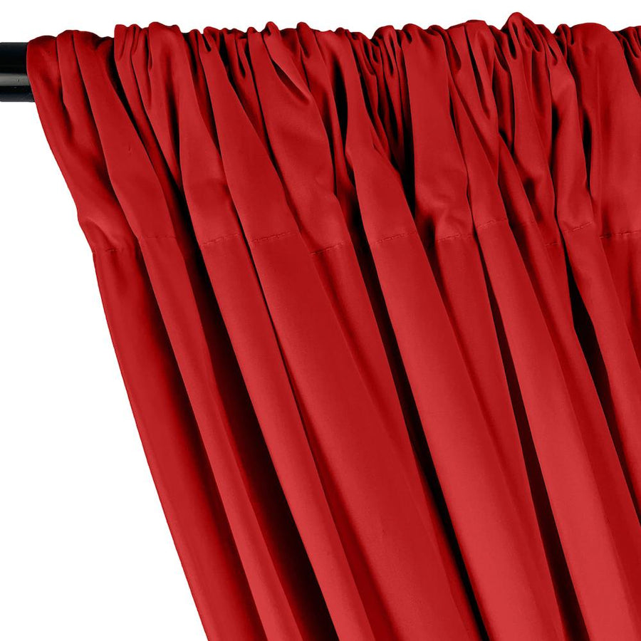 Stretch Broadcloth Rod Pocket Curtains - Red