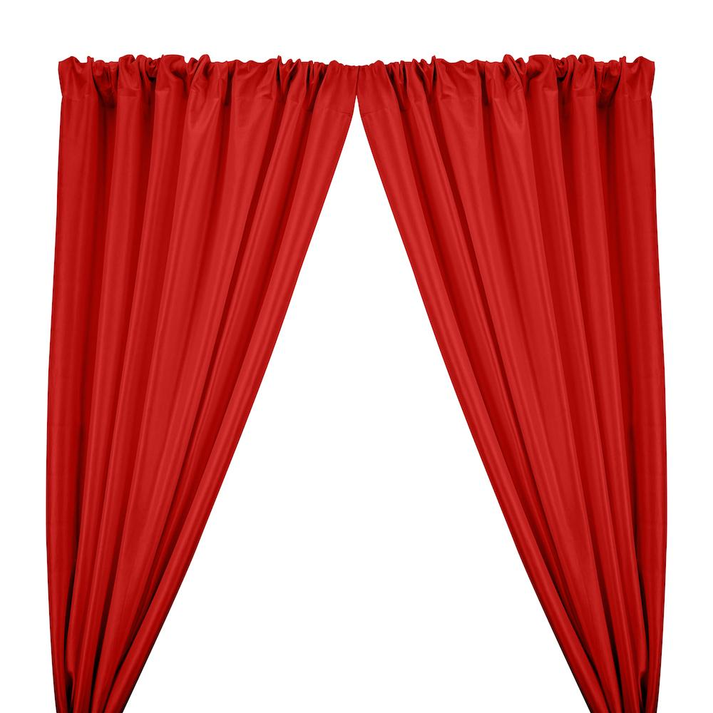 Stretch Taffeta Rod Pocket Curtains - Red