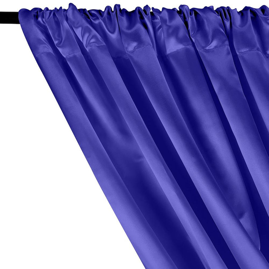 Bridal Satin Rod Pocket Curtains - Royal Blue
