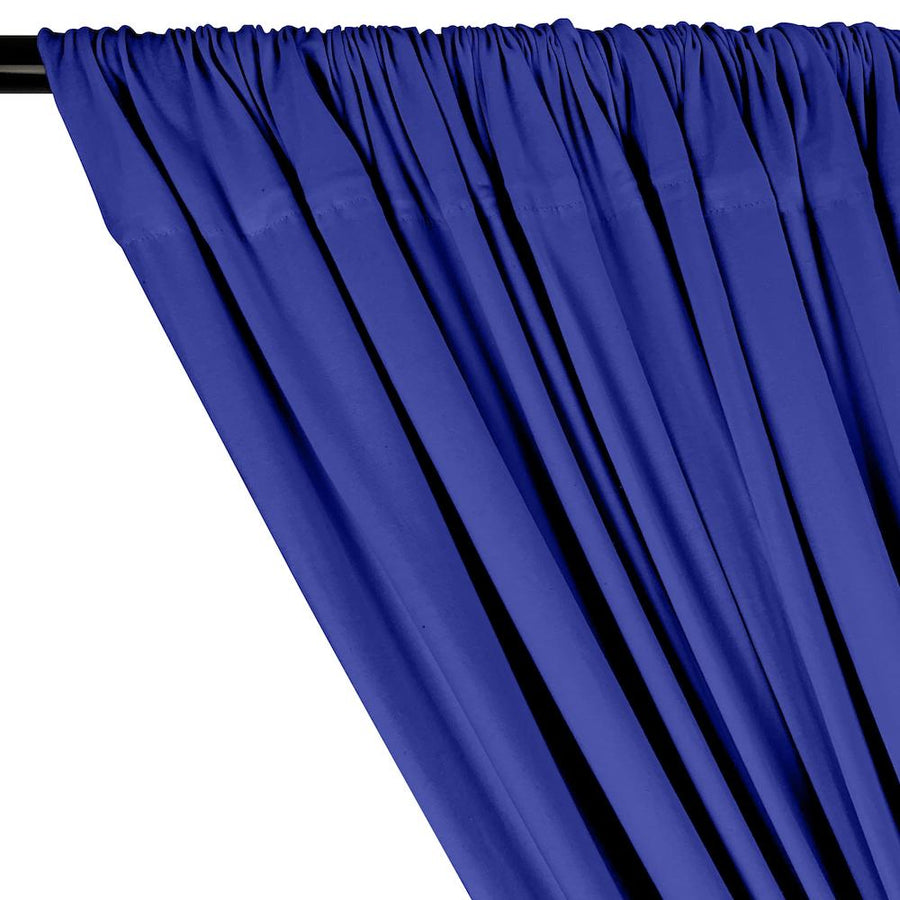 Cotton Jersey Rod Pocket Curtains - Royal Blue