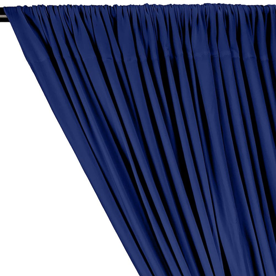 DTY Double-Sided Brushed Rod Pocket Curtains - Royal Blue