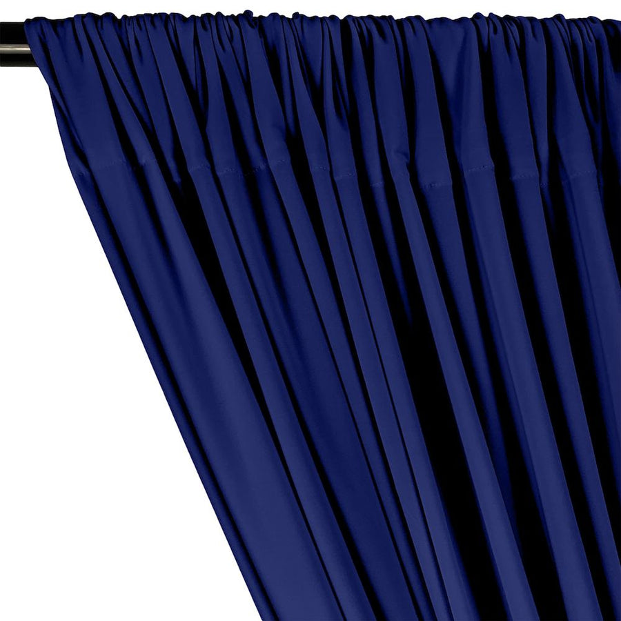 ITY Knit Stretch Jersey Rod Pocket Curtains - Royal Blue