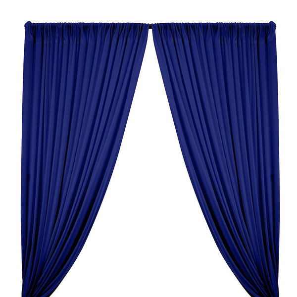 Interlock Knit Rod Pocket Curtains - Royal Blue