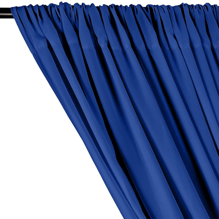 Peachskin Rod Pocket Curtains - Royal Blue
