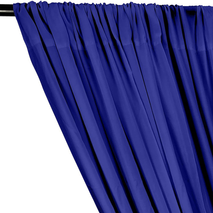 Rayon Challis Rod Pocket Curtains - Royal Blue