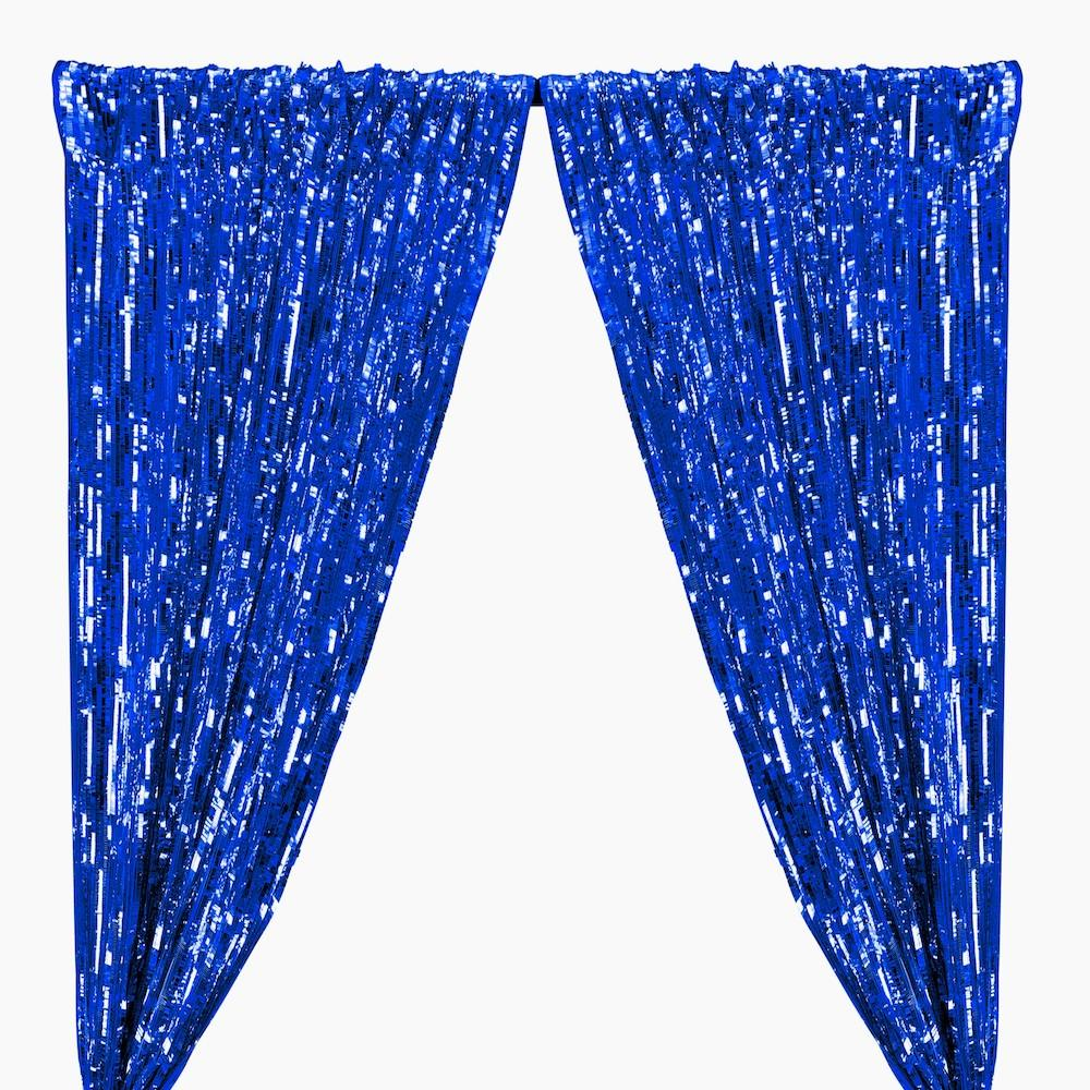 Rectangle Piano Sequins Rod Pocket Curtains - Royal