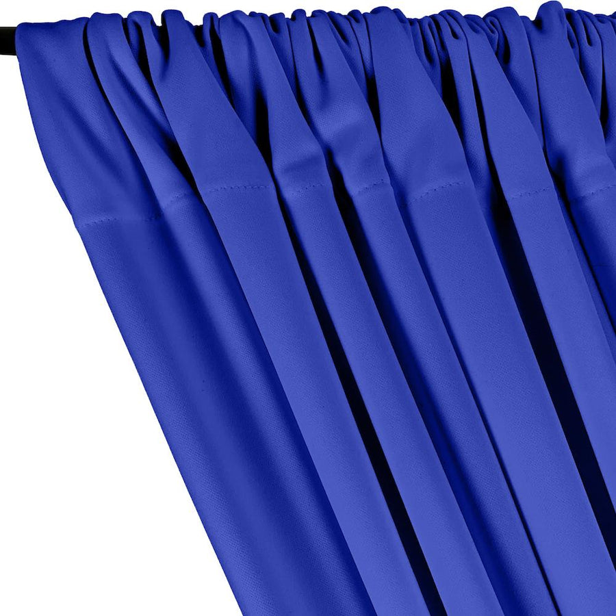 Scuba Double Knit Rod Pocket Curtains - Royal Blue