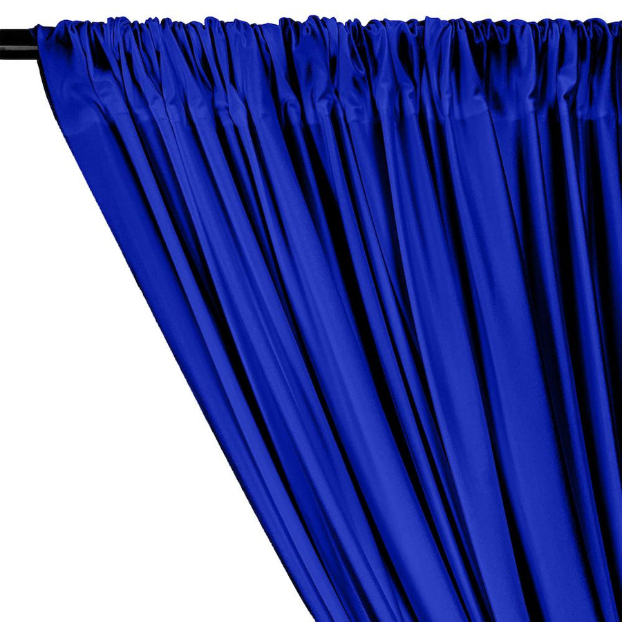 Shiny Milliskin Rod Pocket Curtains - Royal Blue