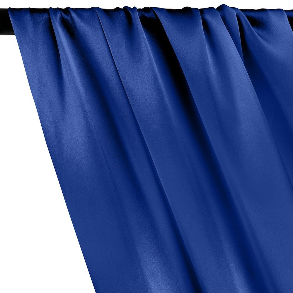 Silk Charmeuse Rod Pocket Curtains - Royal Blue