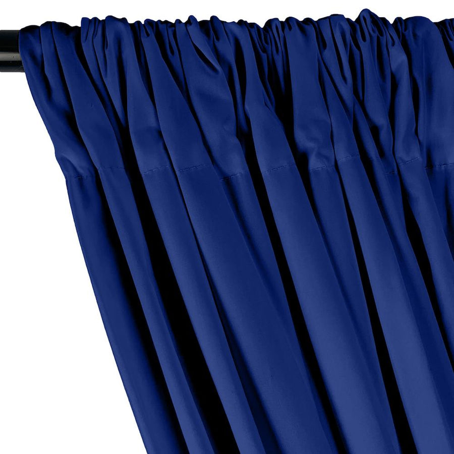 Stretch Broadcloth Rod Pocket Curtains - Royal Blue
