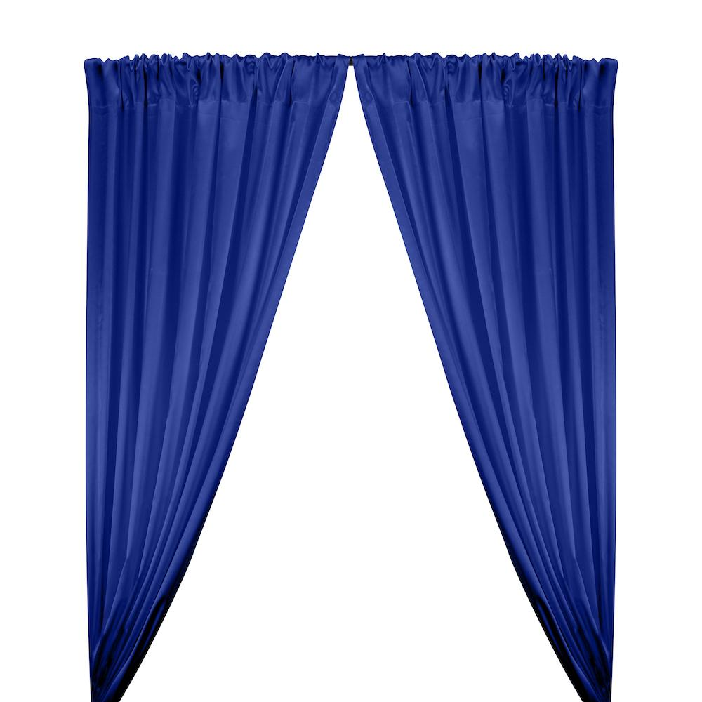 Stretch Charmeuse Satin Rod Pocket Curtains - Royal Blue