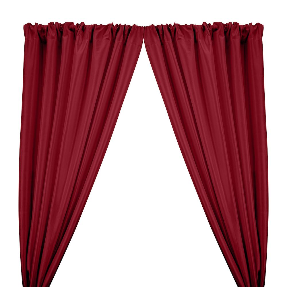 Stretch Taffeta Rod Pocket Curtains - Ruby Red