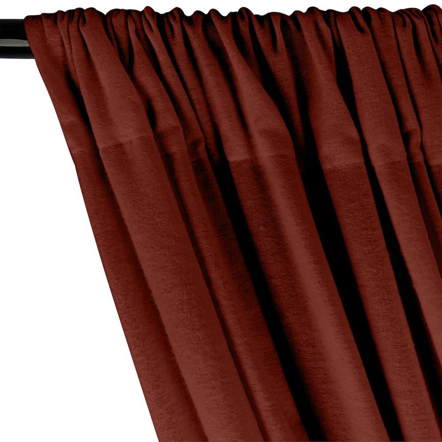 Cotton Flannel Rod Pocket Curtains - Rust