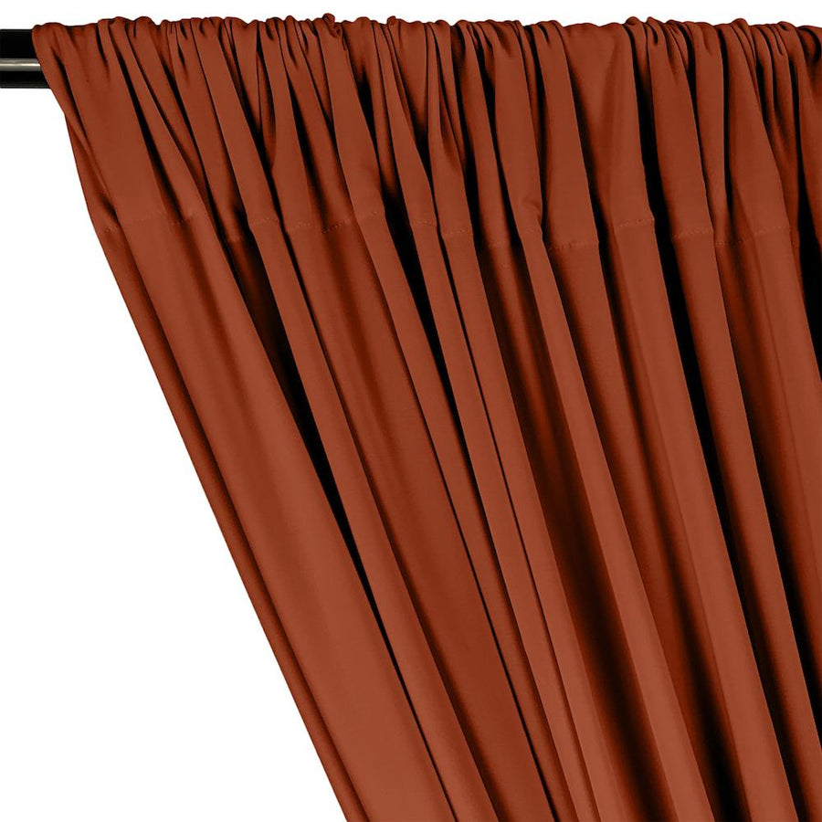 ITY Knit Stretch Jersey Rod Pocket Curtains - Rust