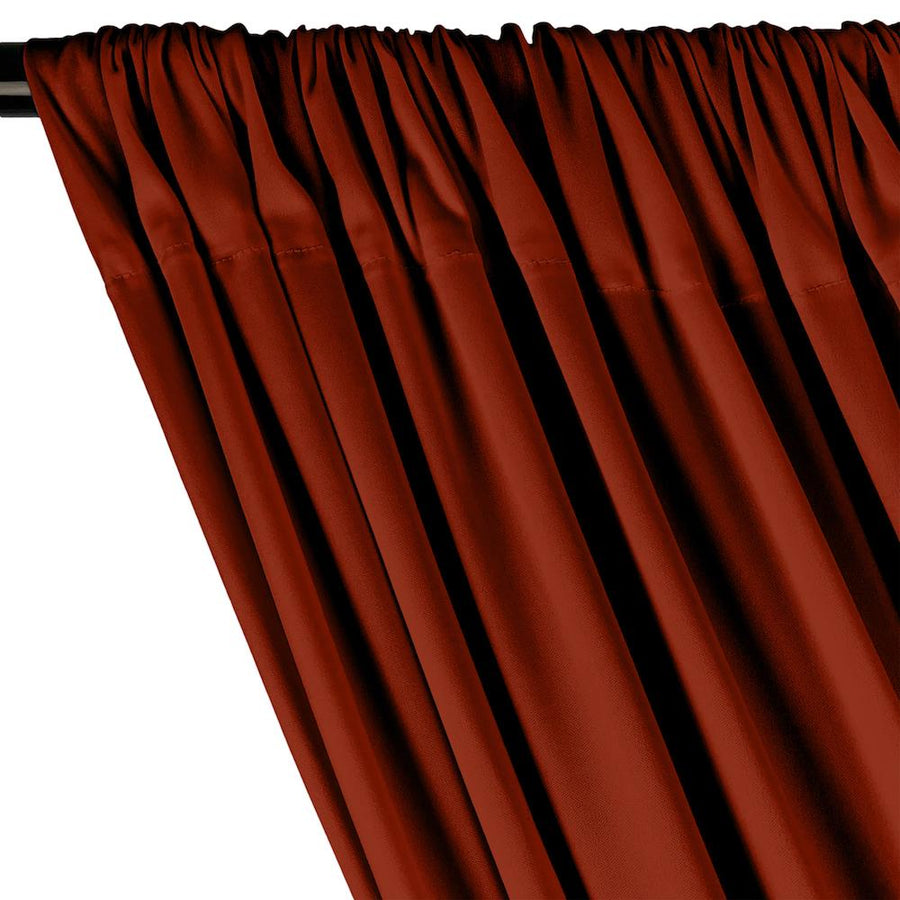 Interlock Knit Rod Pocket Curtains - Rust