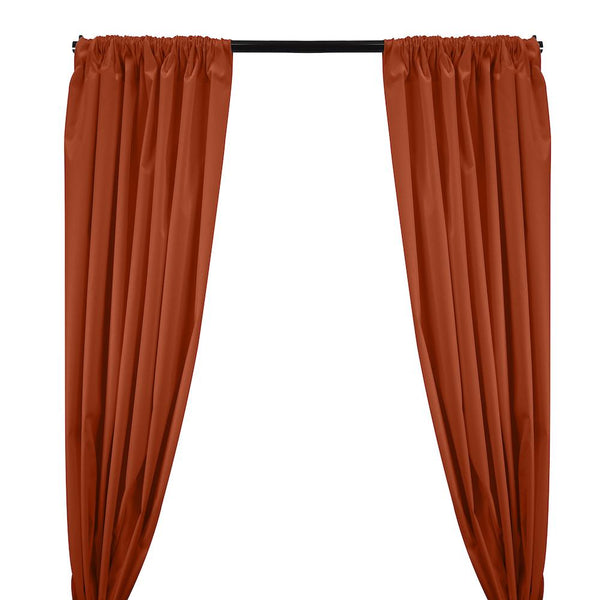 Ottertex® Canvas Waterproof Rod Pocket Curtains - Rust