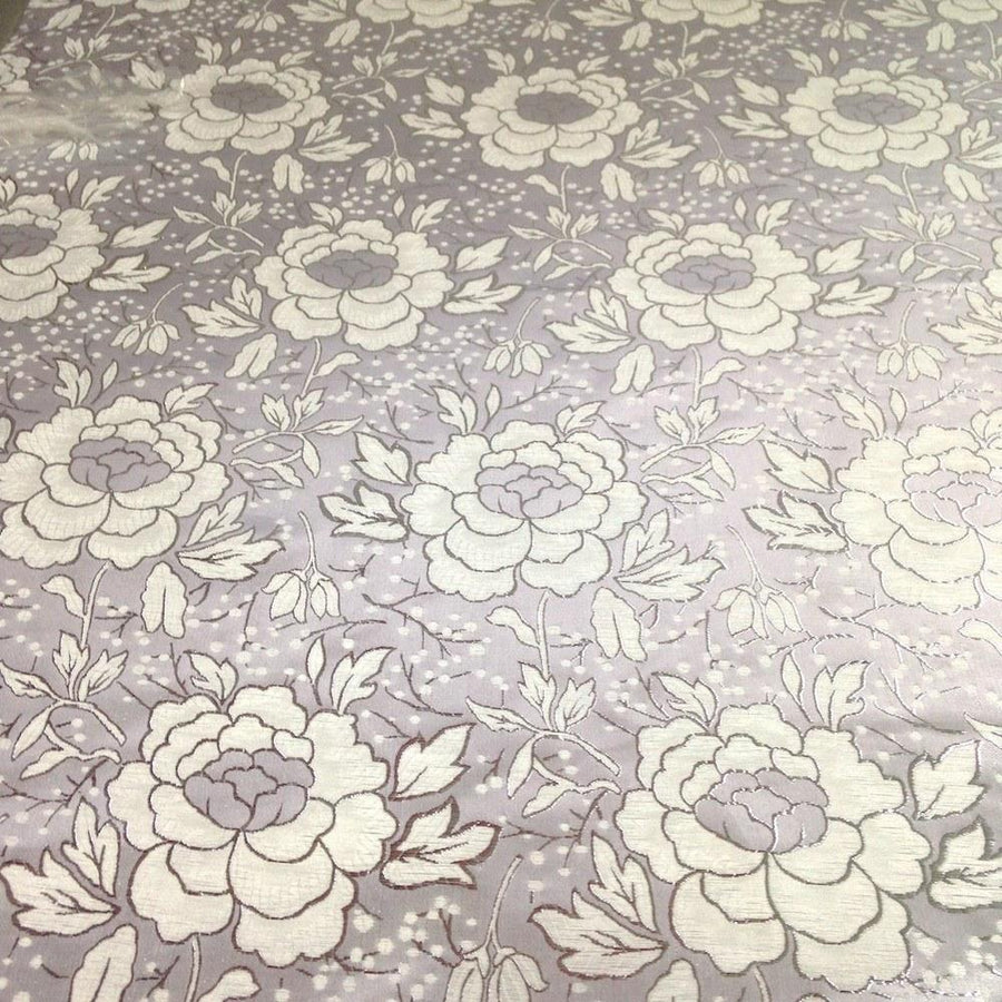 Carnation Metallic Brocade Fabric