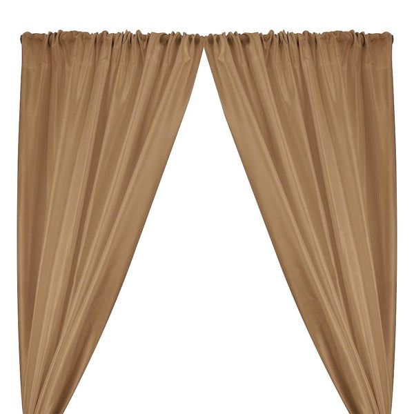 Polyester Dupioni Rod Pocket Curtains - Sand 119