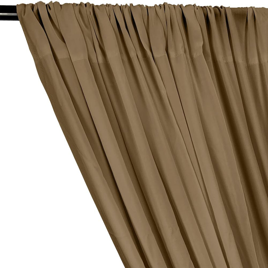 Rayon Challis Rod Pocket Curtains - Sand