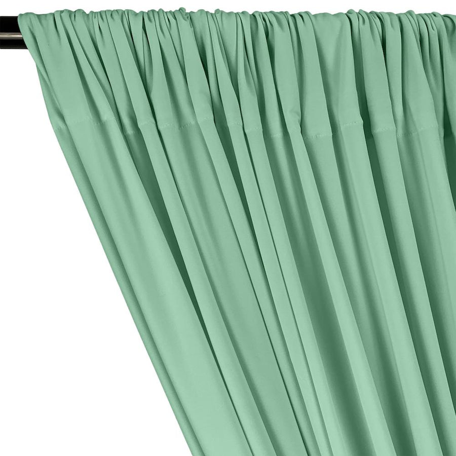 ITY Knit Stretch Jersey Rod Pocket Curtains - Seafoam