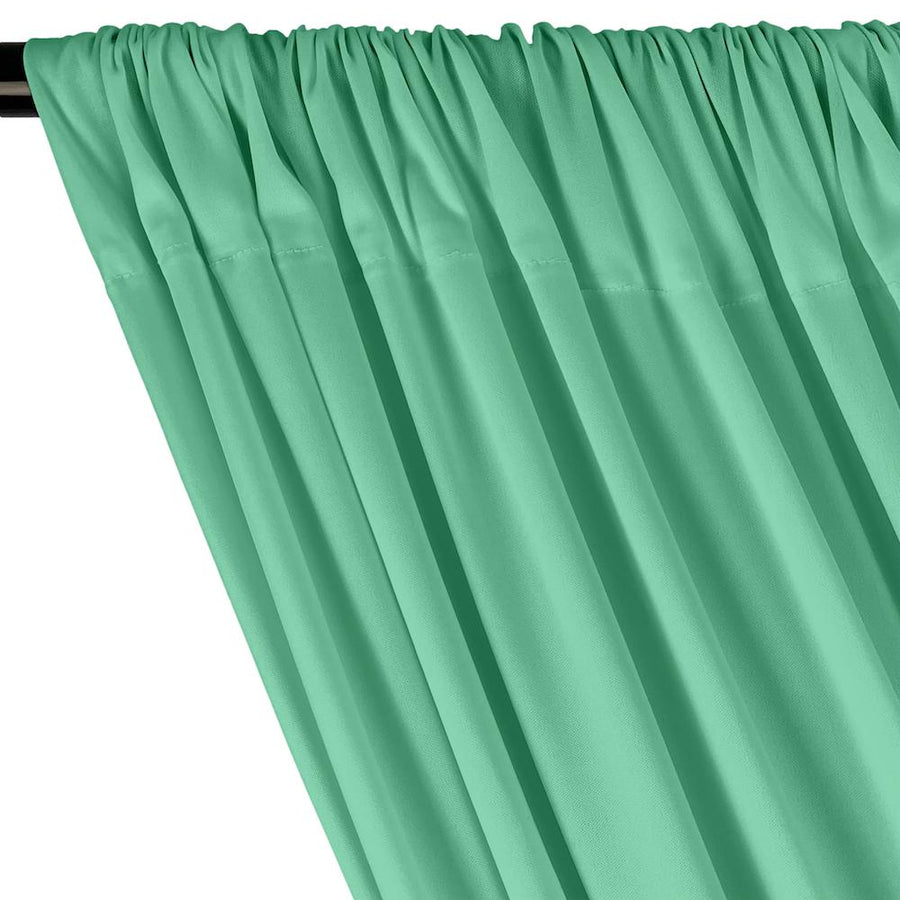 Interlock Knit Rod Pocket Curtains - Seafoam