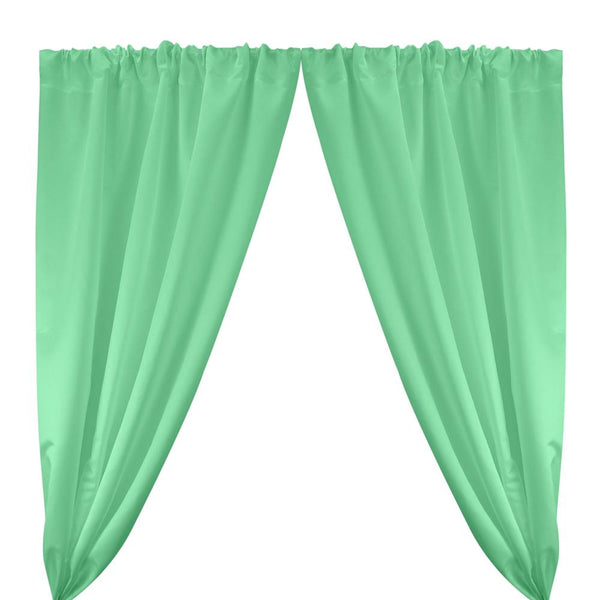 Matte Satin (Peau de Soie) Rod Pocket Curtains - Seafoam